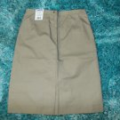 "Womens khaki pleated skirt Tan 25"" skirt Tan Skirt Khaki skirt SZ 10 Skirt NWT"