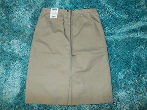 """Womens khaki pleated skirt Tan 25"""" skirt Tan Skirt Khaki skirt SZ 10 Skirt NWT"""