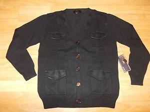 Black Long sleeve military style cardigan sweater Black Cardigan sweater S-2X