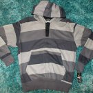 Gray Black stripe long sleeve hoodie hoody sweater Long sleeve hoody sweater SML
