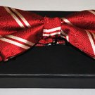 Kappa Alpha Psi Red white Bow Tie 100%  SILK PRE-TIED BOW TIE in Gift Box