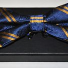 MASON MASONIC FREEMASONARY 100% JACQUARD SILK PRE-TIED BOW TIE w Gift Box B