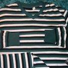 Mens black white long sleeve V neck shirt by Rocawear long sleeve V neck L XL
