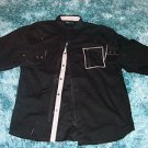 Mens black long sleeve shirt by MO7 black long sleeve button up shirt XL 4X NWOT