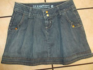 GUESS JEANS blue denim jean skirt GUESS JEANS Mini Skirt Womens Mini Skirt SZ 24