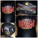 Buffalo Soldiers black leather baseball Cap Leather Buffalo Soldier Baseball hat