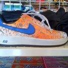 White orange blue low top sneaker shoe Nike Air Force One Tennis Shoe 9US NWOB