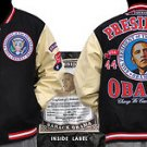 President Barack Obama Black White Varsity Jacket BlacK Wool Jacket L-4X