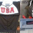 Team USA Black Red Long sleeve track Soccer Jacket MLS Soccer Track Jacket  L-2X