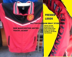 Manchester United Red Long sleeve track Soccer Jacket MLS Soccer top L-2X