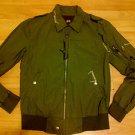 Olive green long sleeve jacket Army green military style jacket coat S-2XL