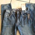 AKADEMIKS Blue denim jean pants Straight leg Relax fit blue jean pants 32WX30L