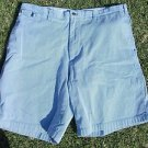 Nautica white blue pin stripe walking shorts Relax fit boat casual shorts 40W