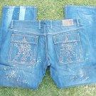 BERT EIGSLER & CO. straight leg jeans blue denim jean pants Men blue jean 44X34