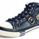 Mens blue high top denim sneaker shoe SZ 7.5-12 US NIB