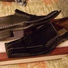 Black slip on Dress shoe Suede Black Slip On dress loafer casual shoe 9.5US