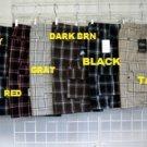 Black plaid cargo shorts Black stripe plaid cargo shorts S-XL CARGO SHORTS 615