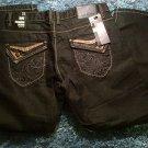 Black denim Jean Pants Black Denim Dress Jean Pants Denim Jeans W30-40X32L NEW