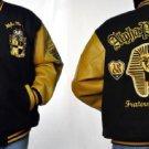 ALPHA PHI ALPHA Varisty Jacket Coat S-6X BLACK GOLD NWT
