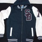 Blue White Varsity Jacket Holstark Vasity Collegiate Varsity Hoodie Hoody Coat