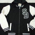 Black White Varsity Jacket Holstark Vasity Collegiate Varsity Hoodie Hoody Coat