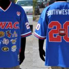 SWAC Conference blue short sleeve Football jersey SWAC CONFERENCE Jersey M-4X