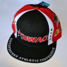 SWAC Southwest Athletic Conference black red baseball cap hat ADJUSTABLE FIT