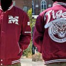 Mens Morehouse College long sleeve jacket Letterman Coat S-4X THE HOUSE TIGERS