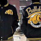 Mens Bowie State University long sleeve jacket Letterman Coat S-4X Bulldogs