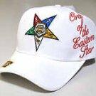 Order of the Eastern Star Baseball Cap OES White Baseball Hat NWT Eastern Star