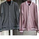 Red Cotton Long Sleeve Varsity Jacket Red Twill Pattern Varsity style coat S-3X