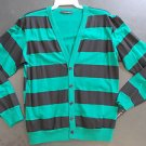 Green Black long sleeve Cardigan sweater Green long sleeve Cardigan Sweater S-2X