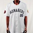 Womens blue short sleeve Negro league baseball jersey S-3X Kansas City Monarchs