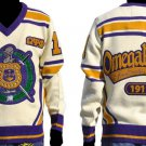 Omega Psi Phi Long Sleeve V neck Sweater OMEGA Q-DOG V neck Fraternity Sweater