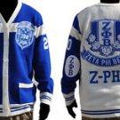 ZETA PHI BETA Blue White Cardigan sweater Zeta Phi Beta Blue sweater  S-4X