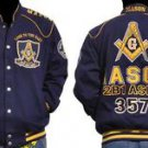 Freemason Jacket Masonic Blue Gold Long sleeve Jacket Worldwide Brotherhood M-5X