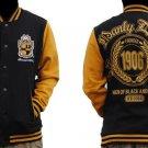 ALPHA PHI ALPHA Black Gold fleece Jacket Alpha Phi Alpha Baseball Jacket S-4X #1
