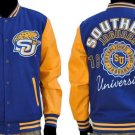 Southern University Wool Varsity Jacket Jaguars HSBC LETTERMAN JACKET M-5X  #2