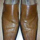 Rust Brown slip on dress shoe Miralto cognac brown slip on dress casual shoe 10