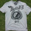 BUFFALO  short sleeve V neck T shirt Gray David Bitton Gray V neck T-shirt L