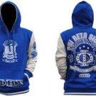PHI BETA SIGMA Blue White Hoodie Jacket PHI BETA SIGMA Pullover Hoody Jacket