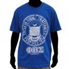 PHI BETA SIGMA blue short sleeve T shirt Phi Beta Sigma Vintage Logo Tee M-4X