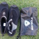 SOFSOLE WATER SHOES POOL BEACH SWIM SURF SHOE Black Mesh surfboard shoe  9/10 US