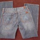7 for All Mankind blue denim jean pants A Pocket Flare bottom 32WX30L