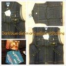 Dark Blue sleeveless denim vest Sleeveless Denim Hoody Hoodie Vest jacket 3X-2X