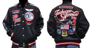 Tuskegee Airmen Jacket 332 REDTAILS US AIR FORCE Black Race Jacket M-4XL