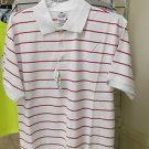 Red white stripe polo shirt by Pro Club stripe short sleeve polo shirt S-7XL NWT