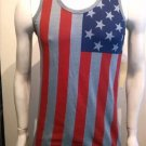 USA Flag Tank Top Mens Gray American Flag Fashion Tank USA Tank top S-2X #4