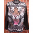 Sublimation Lion image long sleeve T-SHIRT Black sublimationT shirt M-2X