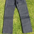 Enyce Raw blue denim Jean Pants Men's Dark Blue Denim Jeans Raw Denim 29-38W